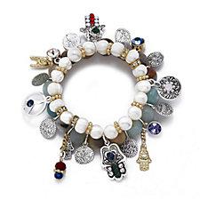 Bibi Bijoux Chunky Stone Charm Bracelet