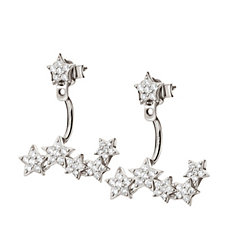 Folli Follie Fashionably Silver Starry Sky Earrings
