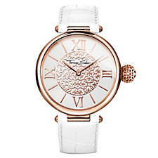 Thomas Sabo Karma White Leather Strap Watch