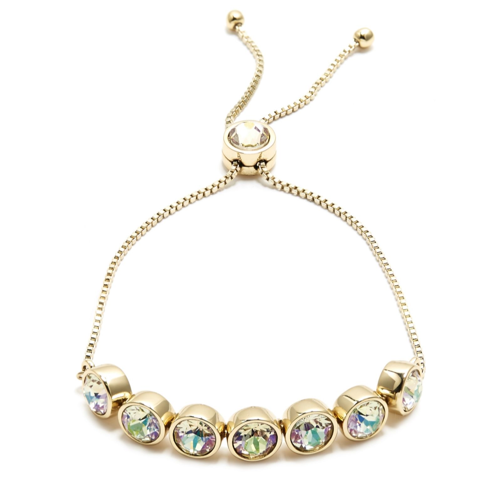 Aurora Swarovski Crystal Chain Friendship Bracelet 318217
