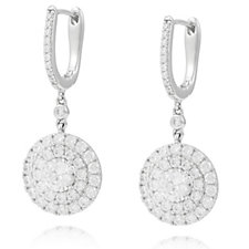 Michelle Mone for Diamonique 2.6ct tw Circle Earrings Sterling Silver