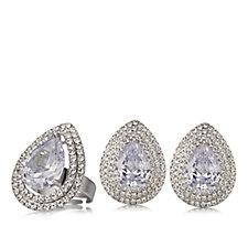 Frank Usher Regal Crystal Earrings & Ring Set