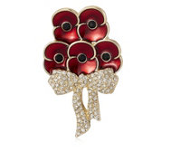The Poppy Collection Elizabeth Bouquet Brooch by Buckley London