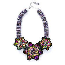 Butler & Wilson Chunky Flower Crystal Collar 43cm Necklace