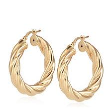 Bronzo Italia Twist Hoop Creole Hoop Earrings