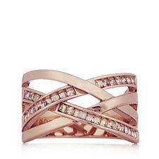 Aurora Swarovski Crystal Layered Wrap Design Ring