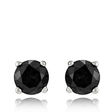 0.3ct Classic Diamond Round Stud Earrings Sterling Silver