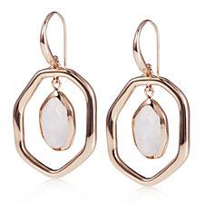 Lola Rose Lyra Semi Precious Halo Drop Earrings