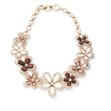 Anne Klein Natural Blossoms 46cm Necklace