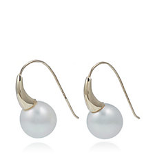 10mm Cultured South Sea Pearls Drop Earrings 14ct Gold