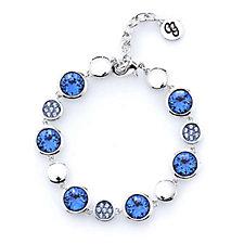 Crystal Glamour with Swarovski Crystals Pave Station Bracelet