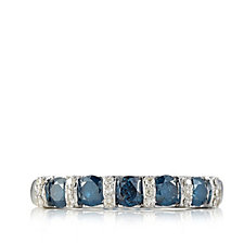0.55ct Blue Diamond Band Ring 9ct Gold