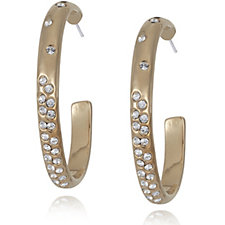 Crystal Glamour with Swarovski Crystals Scattered Hoop Earrings