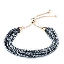 Bronzo Italia Hematite Multi Strand Friendship Bracelet
