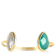 K by Kelly Hoppen Capri Nearly There Gemstone Ring 18ct Vermeil Sterling Silver