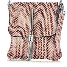 Frank Usher Leather Cross Body Tassel Bag