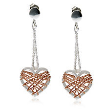 Links of London Dream Catcher Heart Drop Earrings Sterling Silver