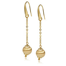 Veronese Satin Finish Ball Drop Earrings Sterling Silver