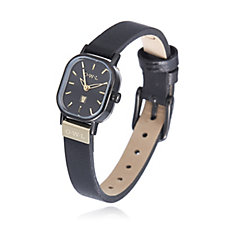 O.W.L Stratford Stainless Steel Leather Strap Watch