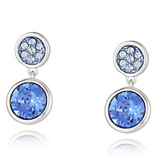 Crystal Glamour with Swarovski Crystals Stud Drop Earrings