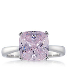 Michelle Mone for Diamonique 4ct tw Cushion Cut Ring Sterling Silver