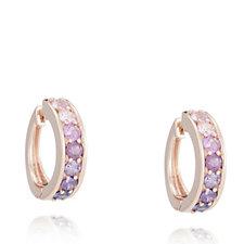 Diamonique 1.4ct tw Simulated Gemstone Hoop Earrings Sterling Silver