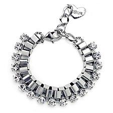 Nour Crystal Link Chain Bracelet