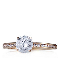 Diamonique 1.2ct tw Solitaire Ring 9ct Gold