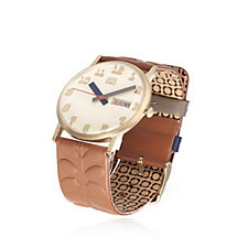 Orla Kiely Madison Leather Strap Watch