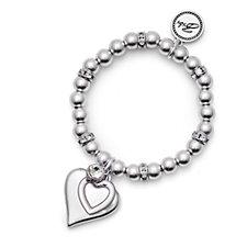 Bibi Bijoux Double Heart Tag Ball Bracelet