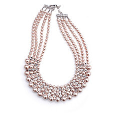 Frank Usher Crystal & Simulated Pearl Graduated 60cm Necklace