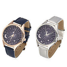 Gossip Celestial Navy Dial Set of 2 Watches