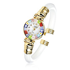 Murano Glass Millefiori Bangle Watch