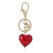 311021 - Murano Glass Heart Bag Charm