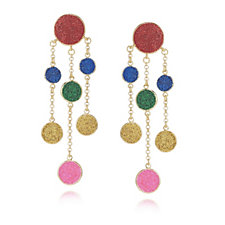 330521 - Butler & Wilson Glitter Discs Earrings