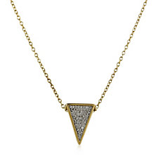 Lisa Snowdon 3D Pyramid Pendant & Chain Gold Vermeil Sterling Silver