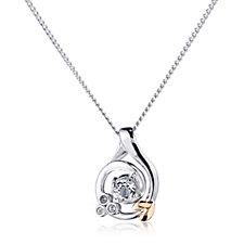 Clogau 9ct Rose Gold & Sterling Silver Origin Pendant & Chain