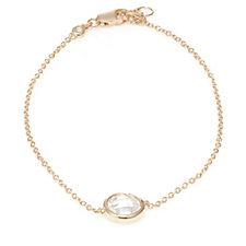 Diamonique 1.5ct tw Bezel Set 20cm Bracelet Sterling Silver