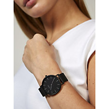 Cluse La Boheme Black Mesh Strap Watch