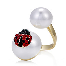 330522 - Butler & Wilson Simulated Pearl & Crystal Ring
