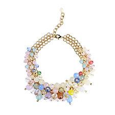 Frank Usher Crystal Cluster 43cm Treble Link Bib Necklace