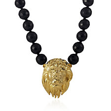Bill Skinner Beaded 44cm Necklace with Animal Head Pendant