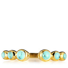 K by Kelly Hoppen Turquoise Nearly There Ring 18ct Vermeil Sterling Silver