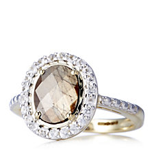 Zawadi Sapphire 2.3ct & White Sapphire Oval Ring 9ct Gold