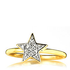 0.1ct Diamond Star Ring 9ct Gold