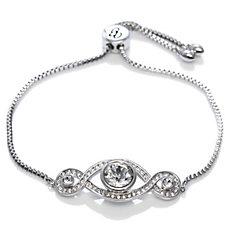 Crystal Glamour with Swarovski Crystals Infinity Slider Bracelet