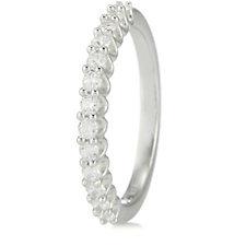 310523 - Diamonique 0.3ct tw Half Eternity Ring Sterling Silver