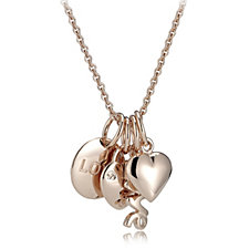 Bronzo Italia Sentiments Charm 45cm Necklace