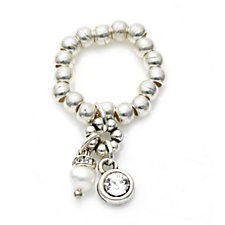 Bibi Bijoux Cultured Fresh Water Pearl & Ball Bead Stretch Ring