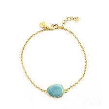 K by Kelly Hoppen Turquoise Bracelet 18ct Vermeil Sterling Silver
